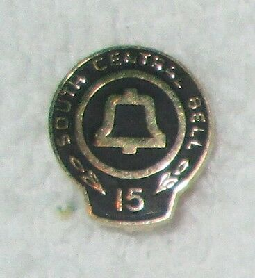 South Central Bell Telephone Company 15 Year Employee Service Lapel Pin