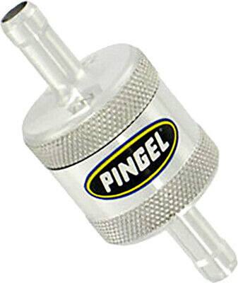 Pingel SS1P In-Line Fuel Filter 5/16in. Aluminum Machined Satin-Finish Fue