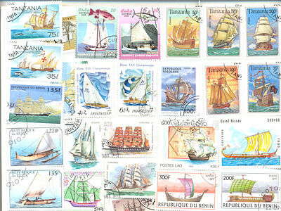 Sailing Ships(inc.Yachts)100 all different collection mainly large