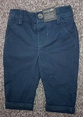 Baby Boy Marks and Spencer Blue Chinos 0-3 months NEW