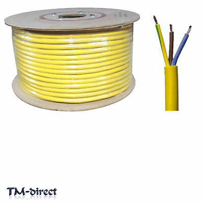 3183Y 3 Core 1.5mm Round Arctic Yellow Electrical Cable Flex Wire BY THE METER