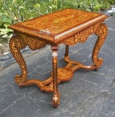 Centre table Full Marquetry Louis XIV style centre table