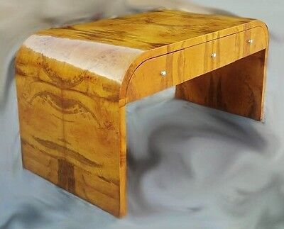 Quality Burl Olive inlaid Art Deco Style desk.