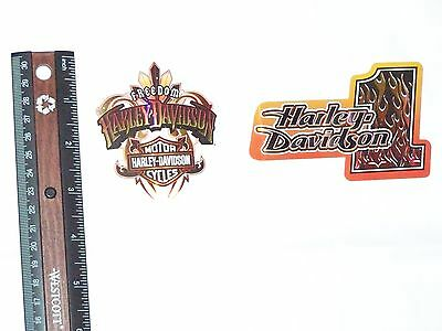 NEW HARLEY DAVIDSON MOTORCYCLES Hologram Reflective Decal Stickers Lot Set of 2