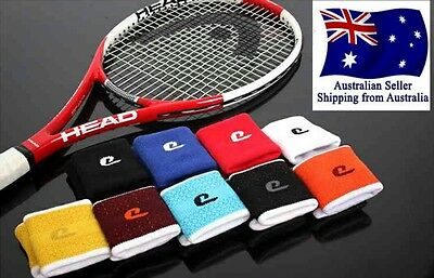 1Pair of High Quality Sports Tennis Wristbands Sweat Band Wrist Support Bands