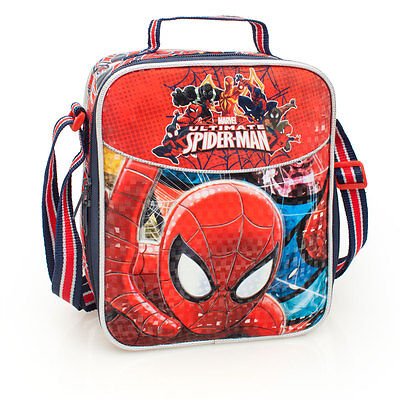 Marvel Spider-Man Premium DELUXE Red Cooler Insulated School Lunch Bag