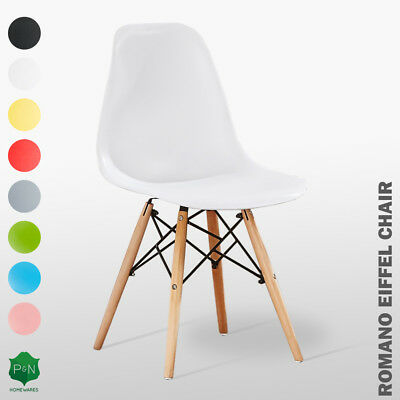 Eiffel Style Chair DS ABS Plastic, Retro White Black Grey Red Yellow Pink Blue