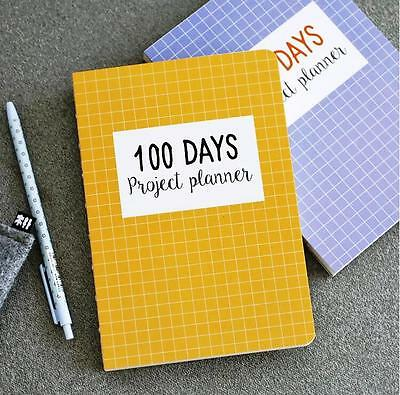 """Grid World"" 1pc 100 Days Project Planner Study Work Agenda To Do List Scheduler"