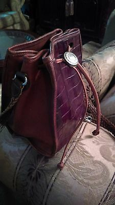 Vintage Brighton Authentic Crossbody Shoulder bag Purse Brown Leather