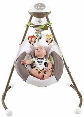 Fisher Price My Little Snugabear Forest Edition Cradle 'n Swing NEW