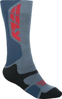 Fly Racing 350-0400S MX Pro Sock Sm/Md Grey/Black Thick