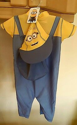 New Despicable Me Swim/beach Suit Age 12/18 Months