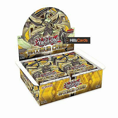 Yu-Gi-Oh Cards Maximum Crisis Factory Sealed Booster Box 24 Packs: