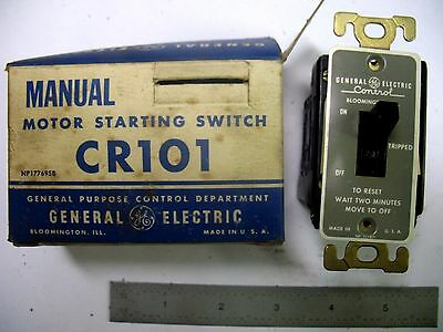 NEW USA MADE GE Model CR101Y Double Pole Manual Motor Starting Switch