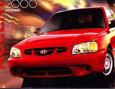 2000 Hyundai Accent Original Factory Sales Brochure.. 14 pages
