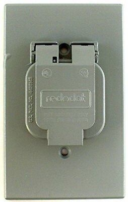 Thomas & Betts Steel City Red Dot WR104-CV Weatherproof Single Outlet Cover