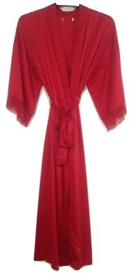 Ladies Ex Store Red Long Satin Kimono Dressing Gownrobe In Uk Sizes