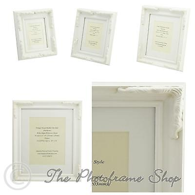 White Shabby Chic Ornate Vintage Picture Frame Single Mount LAST FEW