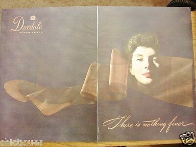 1949 DEXDALE Deluxe NYLONS Stockings Wmns Vintage LINGERIE Fashion Print 2pg Ad