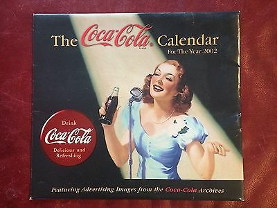 """Coke Coca Cola ARCHIVES Wall Calendar 2002 NIW Large 12 by 14"""""""