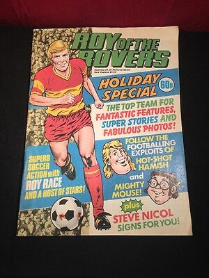 Vintage Roy Of The Rovers Holiday Special - Original Poster Inside 1985