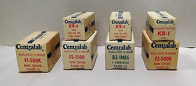 Lot of 7 Vintage New Old Stock -  Potentiometers from CentraLab