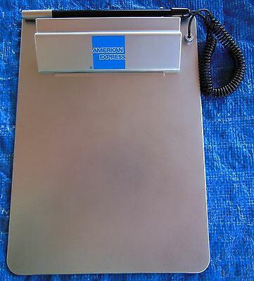 American Express Silver Clipboard with attached Pen - 6.5 x 9 inches