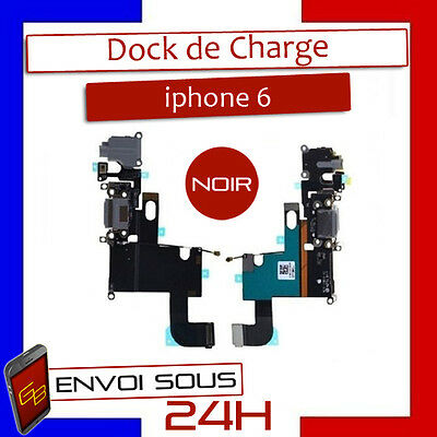 Nappe Dock Connecteur De Charge + Jack + Micro + Antenne Iphone 6 Noir