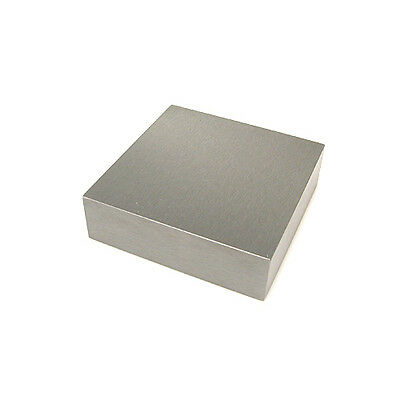 """Solid Steel Jewellers Bench Block 2.5"""" x 2.5"""" x 1"""" Dapping Doming Hammering"""