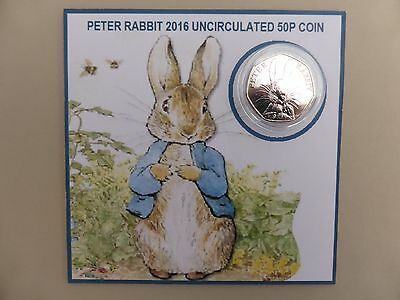 Rare peter rabbit 50p coin, brand new uncirculated,