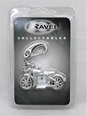 Ravel Miniature Motorbike Shape Key Ring with Analogue Watch
