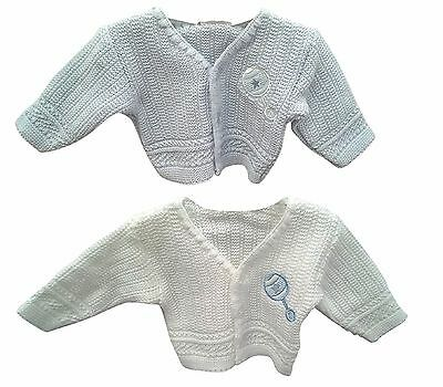 Premature Baby Boy Knitted Cardigan