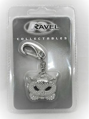 Ravel Cat Face Key Ring with Analogue Watch