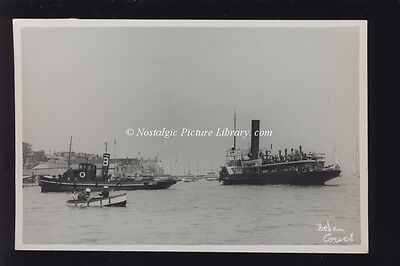 PHOTOGRAPH OF PADDLE STEAMER IN COWES HARBOUR ISLE OF WIGHT by BEKEN