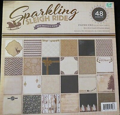 Sparkling Sleigh Ride 12x12 Specialty Paper Pack w/Treatments by MME Christmas