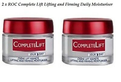 2 x ROC Complete Lift Lifting and Firming Daily Moisturiser 50mL All Skin NEW
