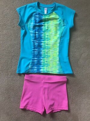 Girls SO Two  Piece Bathing Suit Swimsuit SZ 7 Top And  6/6X Bottom