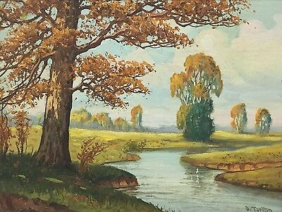 BRYAN TARLTON Original Signed Indiana Spring Landscape Oil Painting - LISTED