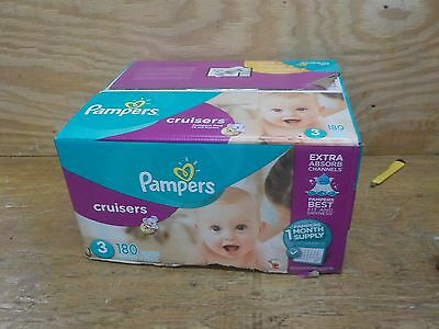 Pampers Cruisers Diapers Size 3, 180 Count (One Month Supply)
