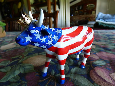 "Cow Parade ""AMERICAN ROYAL"" Westland Figurine #9189 Retired 2001"