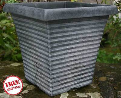 Tall Square Planter Pots Plastic Large Garden Patio Outdoor Flower Plant Herb Uk
