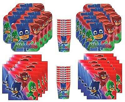 PJ Masks Birthday Party Supplies Bundle Pack for 16 Guests