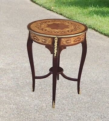 QUALITY Large Louis XVI round marquetry side table
