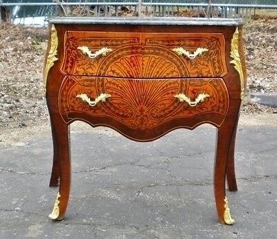 -Magnificent Louis XV style marble top Commode