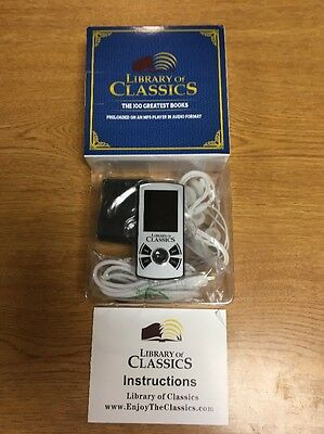 MP3 Player With 100 Preloaded Library of Classics Audio Books Moby Dick 600hr