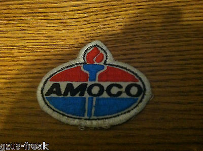 """2 1/2"""" X 3"""" Amoco oil gas company advertising patch"""