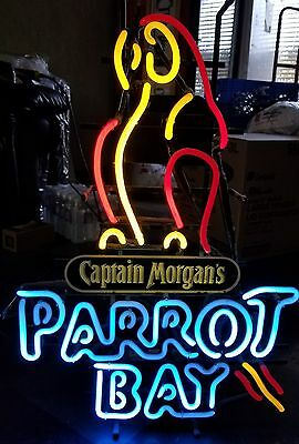 Rare Captain Morgan Parrot Bay Beer Neon Lighted Sign