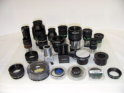 Telescope lenses collection TeleVue  35mm, 24mm, 18mm, 15mm, 12mm 10mm and more.