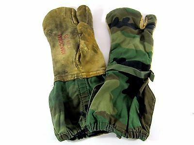US Army Trigger Finger Mitten Shell, Military Cold Weather Shooting Gloves, BDU