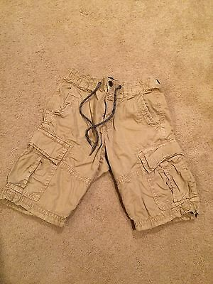 American Eagle Outfitters Khaki Mens Cargo Shorts Size 26